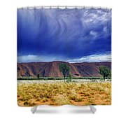 Thunder Rock Shower Curtain by Holly Kempe