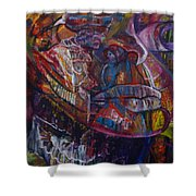 Tikor Woman Shower Curtain by Peggy  Blood