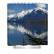 Time For Reflection Shower Curtain by Fran Riley