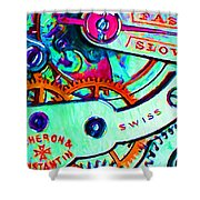 Time In Abstract 20130605m36 Shower Curtain by Wingsdomain Art and Photography