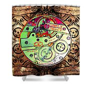 Time Machine 20130606 square Shower Curtain by Wingsdomain Art and Photography