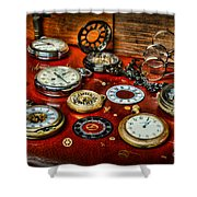 Time - Pocket Watches  Shower Curtain by Paul Ward