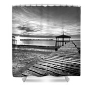 Time To Fish Shower Curtain by Debra and Dave Vanderlaan