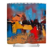Time To Time Shower Curtain by Elise Palmigiani
