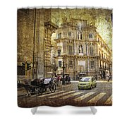 Time Traveling In Palermo - Sicily Shower Curtain by Madeline Ellis