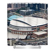 Time Warner Cable Arena Shower Curtain by Bill Cobb