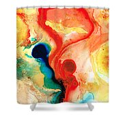 Time Will Tell - Abstract Art By Sharon Cummings Shower Curtain by Sharon Cummings