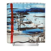 Timeline Shower Curtain by Andrea Anderegg