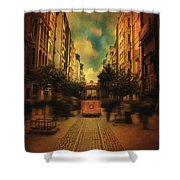 Timepiece Shower Curtain by Taylan Soyturk