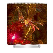 Tinker Bell Christmas Tree Landing Shower Curtain by James BO  Insogna