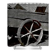 Tired Wagon Shower Curtain by Cheryl Young