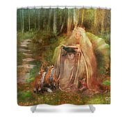 To Spin A Tale Shower Curtain by Aimee Stewart
