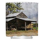 Tobacco Barn In North Carolina Shower Curtain by Benanne Stiens