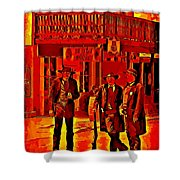 Tombstone Heat Shower Curtain by John Malone