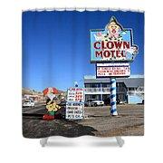 Tonopah Nevada - Clown Motel Shower Curtain by Frank Romeo