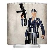 Tony Montana - Al Pacino Shower Curtain by Ayse Deniz