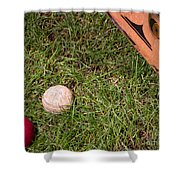 Tools Of The Game  Shower Curtain by Tom Gari Gallery-Three-Photography