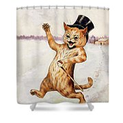 Top Cat Shower Curtain by Louis Wain