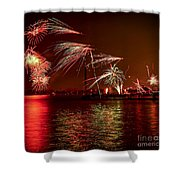 Toronto Fireworks Shower Curtain by Elena Elisseeva