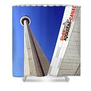 Toronto Landmarks Shower Curtain by Valentino Visentini