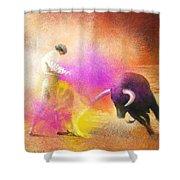 Toroscape 55 Shower Curtain by Miki De Goodaboom