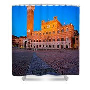 Torre Del Mangia Shower Curtain by Inge Johnsson