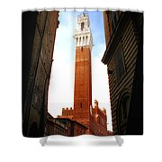 Torre Del Mangia Siena Shower Curtain by Mike Nellums