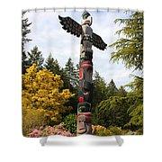 Totem Pole  Shower Curtain by Carol Groenen