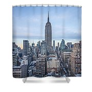 Touch The Sky Shower Curtain by Evelina Kremsdorf