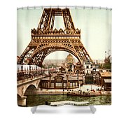 Tour Eiffel And Exposition Universelle Paris Shower Curtain by Georgia Fowler