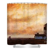 Towards The Shore Shower Curtain by Pixel Chimp