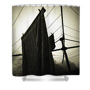 Towels  Shower Curtain by Les Cunliffe