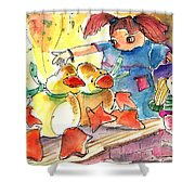 Toy Story In Lanzarote 02 Shower Curtain by Miki De Goodaboom