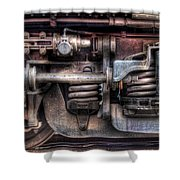 Train - Car - Springs And Things Shower Curtain by Mike Savad