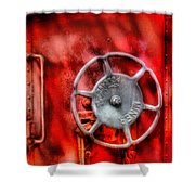Train - Car - The Wheel Shower Curtain by Mike Savad