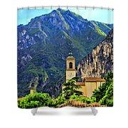 Tranquil Landscape Shower Curtain by Mariola Bitner