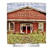 Transylvania Elementary Shower Curtain by Scott Pellegrin