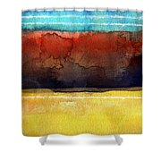 Traveling North Shower Curtain by Linda Woods