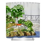 Treasure Island - California Sketchbook Project  Shower Curtain by Irina Sztukowski