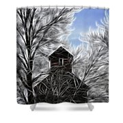 Tree House Shower Curtain by Steve McKinzie