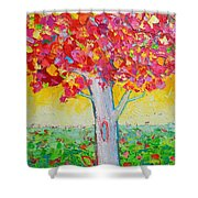 Tree Of Life In Spring Shower Curtain by Ana Maria Edulescu