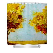 Trees in the Fall Shower Curtain by Patricia Awapara