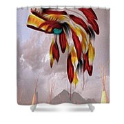 Tribal Shower Curtain by Cheryl Young