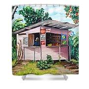 Trini Roti Shop Shower Curtain by Karin  Dawn Kelshall- Best