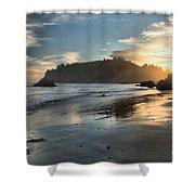 Trinidad Beach Reflections Shower Curtain by Adam Jewell