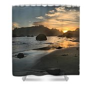 Trinidad Sunset Reflections Shower Curtain by Adam Jewell
