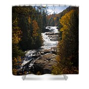 Triple Falls Shower Curtain by Penny Lisowski