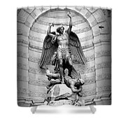 Triumphant Saint Michael Shower Curtain by Carol Groenen