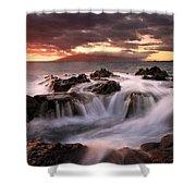 Tropical Cauldron Shower Curtain by Mike  Dawson