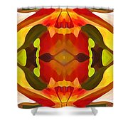 Tropical Leaf Pattern 17 Shower Curtain by Amy Vangsgard